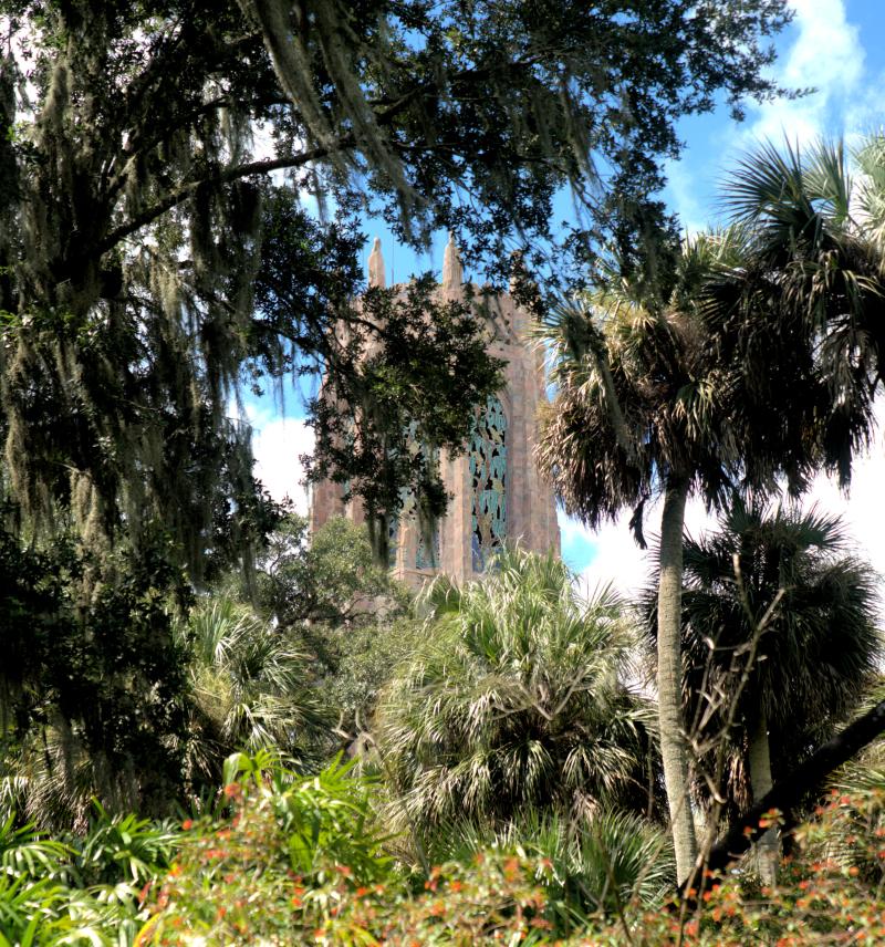 08_21 Bok Tower view through trees DSC07007 -1
