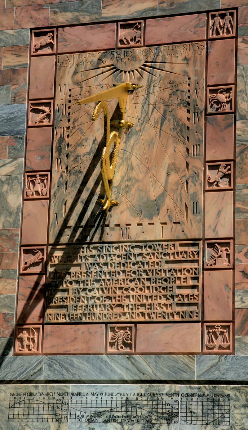08_21 Bok Tower sun dial DSC07025 -1