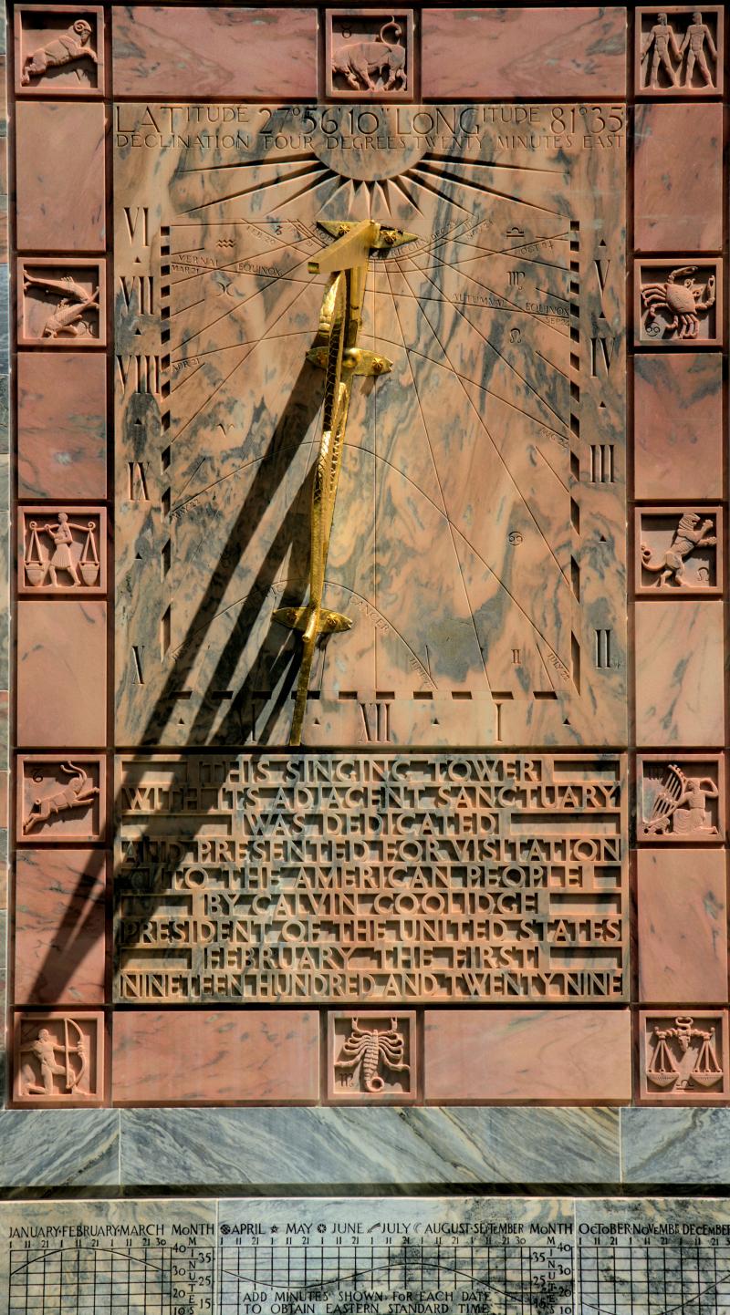 08_21 Bok Tower sun dial close up DSC07034 -1